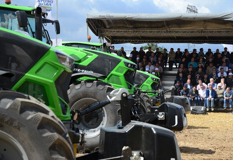 BKT-shod tractors line up at Future Farming (Photo: SDF)