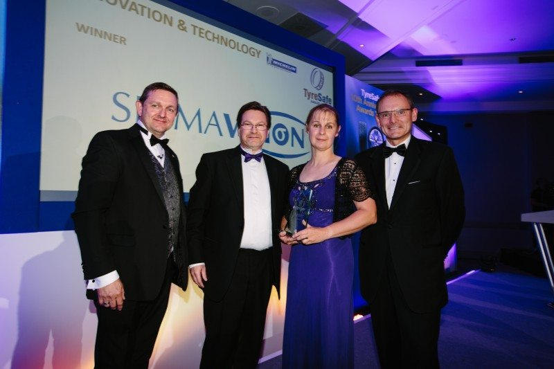 Sigmavision's TreadReader was awarded the TyreSafe accolade for innovation and technology