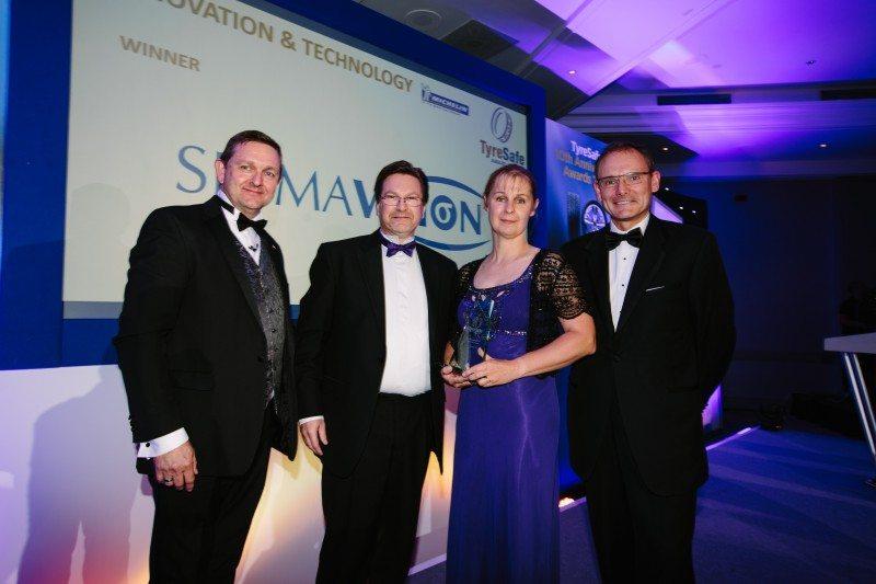 Sigmavision's TreadReader wins TyreSafe Innovation and Technology Award
