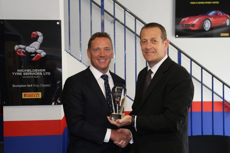 Simon Hiorns (Micheldever Tyre and Auto Services Retail Director) and Jason Sugden (Pirelli UK Sales Director)