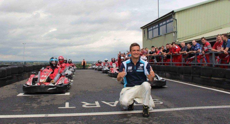 BTCC Champion attends TerraClean Karting Event