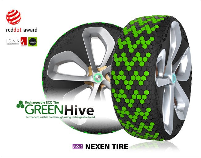 The Green Hive 'grows' new tread when required