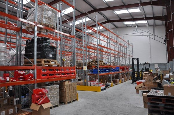 Harvie Tyres' new site includes more than 8,000ft of fully racked warehousing
