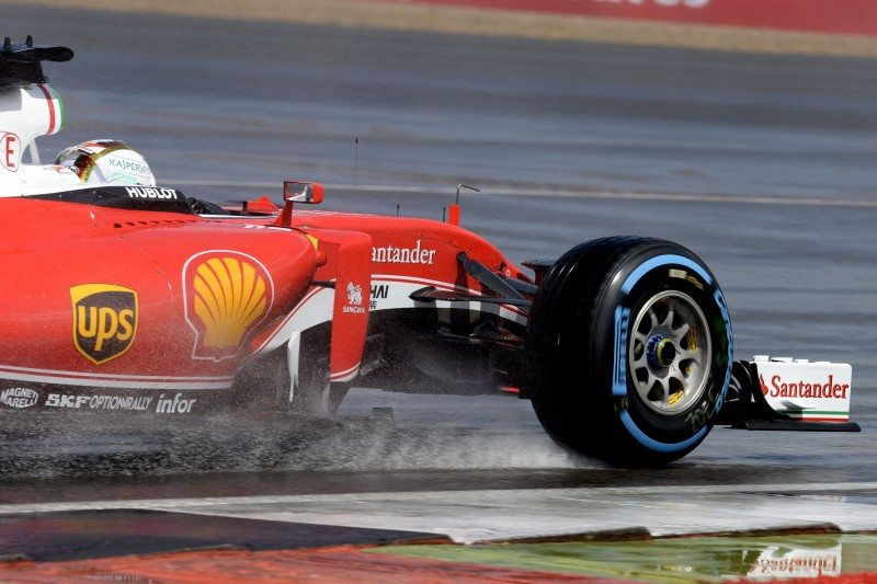 Pirelli's Cinturato Blue full wet tyre was fitted to the entire grid for the start of the British grand prix