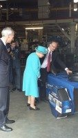Queen and Prince Philip visit Michelin plant