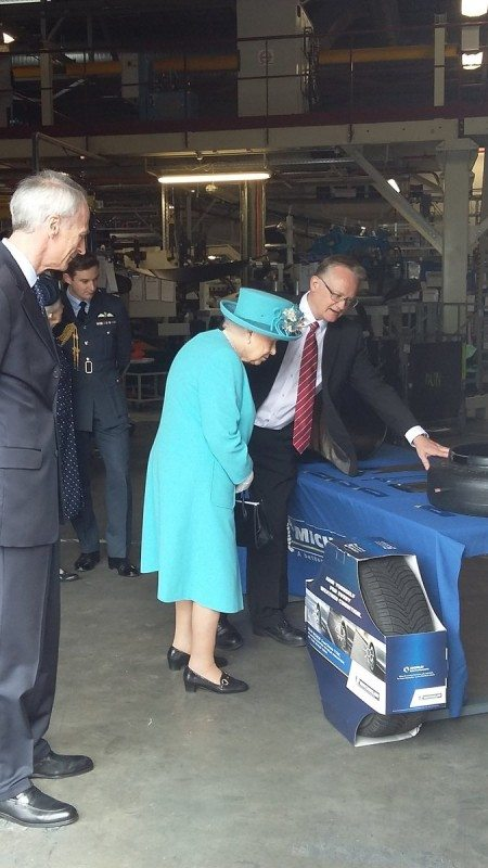 The Queen examines some of the Dundee plant's products