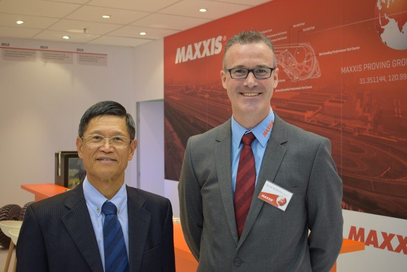 Robert Lo, chairman of Cheng Shin Rubber, and Derek McMartin, MD of Maxxis International UK