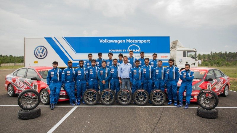 VW has chosen MRF to supply rubber for its all-Vento series