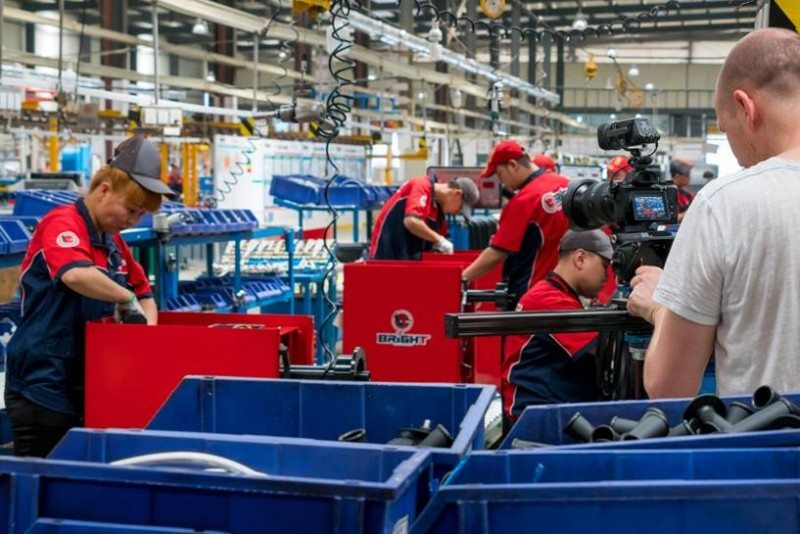 Bright recently invited films crews into its factory as part of its policy of openness