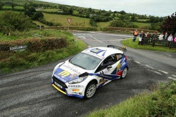 Alastair Fisher won in the Irish Tarmac Rally Championship on the Ulster Rally, finishing second overall on Pirelli tyres