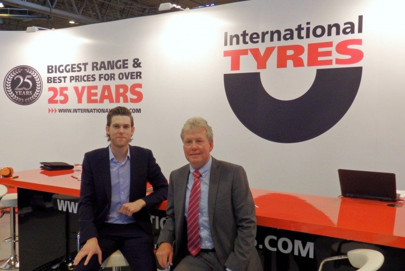 International Tyres managing director Paul Jackson (right)