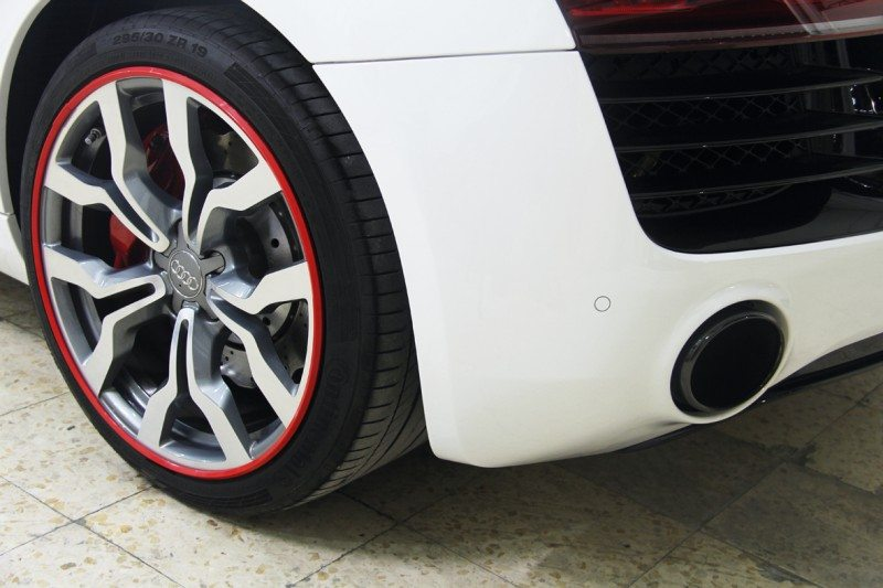 AlloyGator's red alloy wheel protector could indicate a motorist's support of Manchester United, Liverpool, Arsenal, Middlesbrough, Southampton, Bournemouth, Sunderland, or even Stoke
