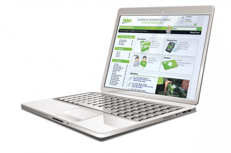 Valeo has launched its web-based Techasist tool