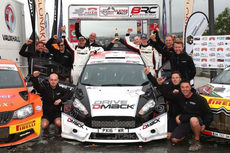 Drive Dmack's Elfyn Evans and Craig Parry claim the 2016 MSA British Rally Championship on the Ulster Rally