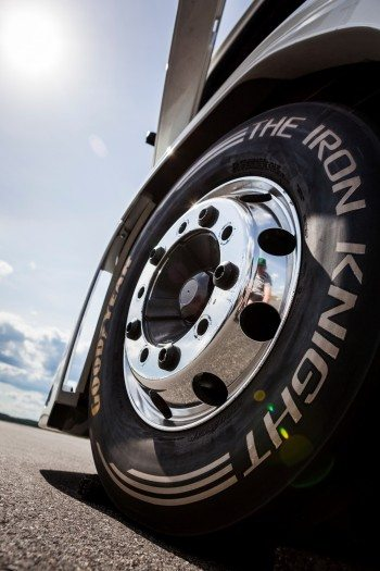 Goodyear's The Iron Knight special edition tyres helped Volvo's machine to break two world speed records