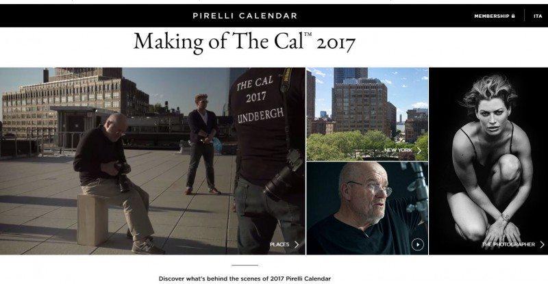 Pirelli launches dedicated Calendar website