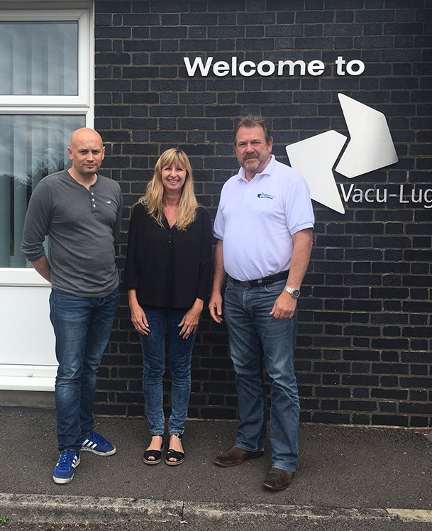 (l-r) Jason Humphries (Distinction, highest mark nationwide), Elaine Dable, and Dave Alsop (both Credit) were among the latest Vacu-Lug team members to gain the Part 1 Retread Workshop Practice City & Guilds qualification
