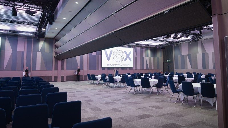 At capacity, the new, purpose-built Vox centre can seat between 850 and 900