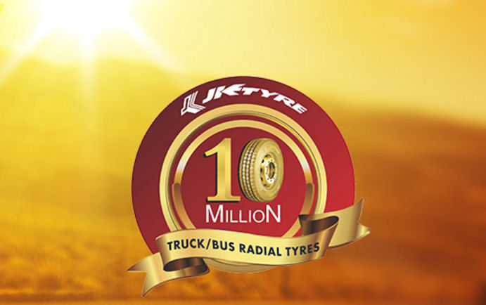 Truck/bus radial production reaches 10M mark at JK Tyre