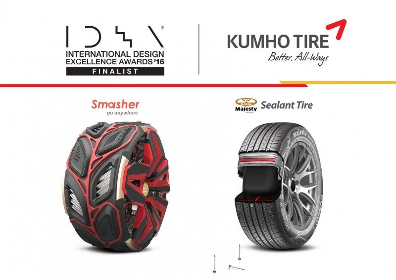 Kumho's IDEA winners, the Smasher and the Sealant