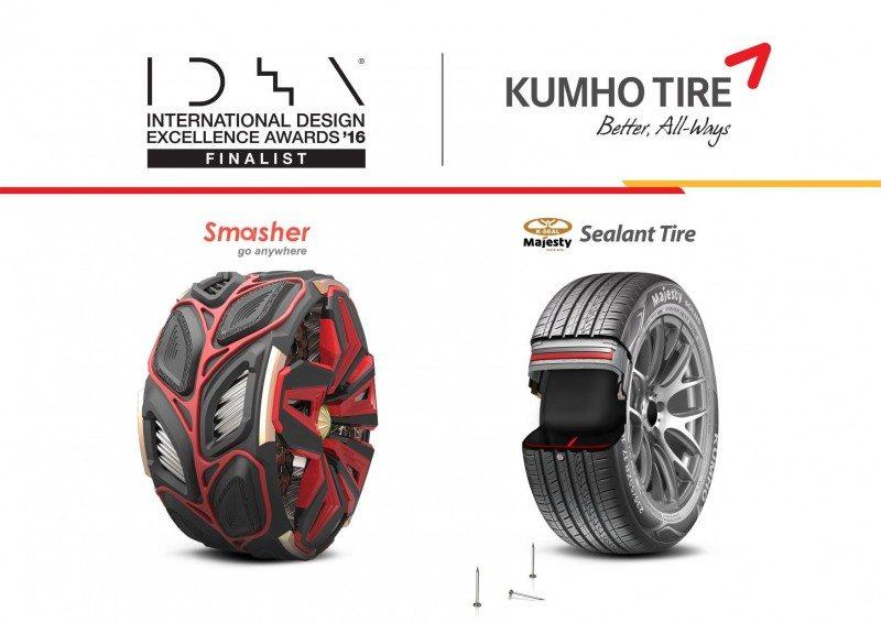 Kumho Smasher, Sealant tyres win IDEA awards