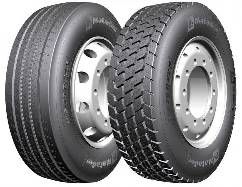 The Matador F HR4 steer axle and D HR4 drive axle lines are now available in size 315/70 R22.5