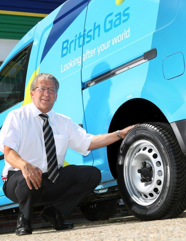 """Michelin's CrossClimate tyres have exceeded expectations in all respects,"" says British Gas fleet manager Colin Marriot; has the manufacturer"