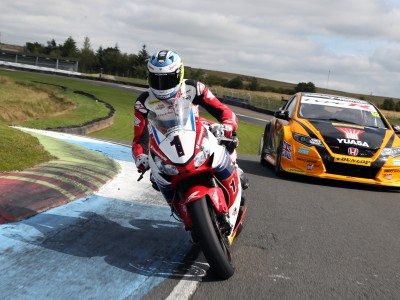 Dunlop, Honda pit Isle of Man TT legend against double BTCC champion: video