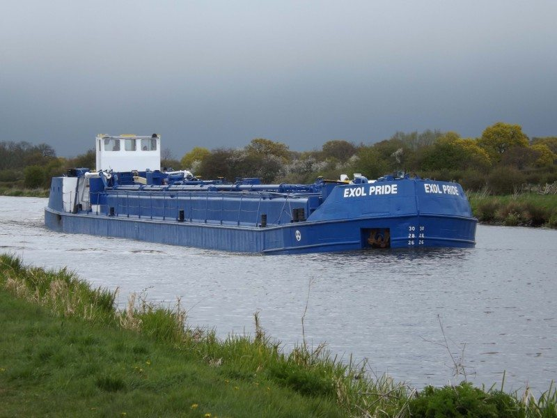 The Exol Pride maintains the company's policy of using Britain's waterways within its logistics strategy