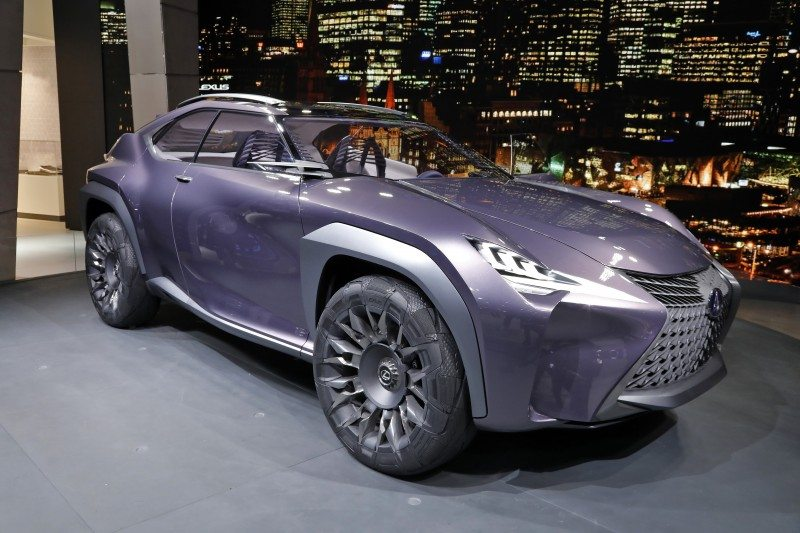 The concept Lexus UX runs on Goodyear's Urban Crossover concept tyres at the Paris Motor Show