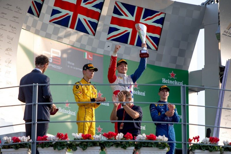 All-British podium in GP3 at Monza