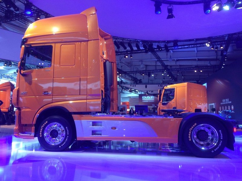 Goodyear's A-rated rolling resistance truck tyre prototype at IAA