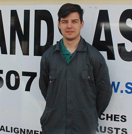 Scotlands Ash Garage apprentice, Jordan Montgomery