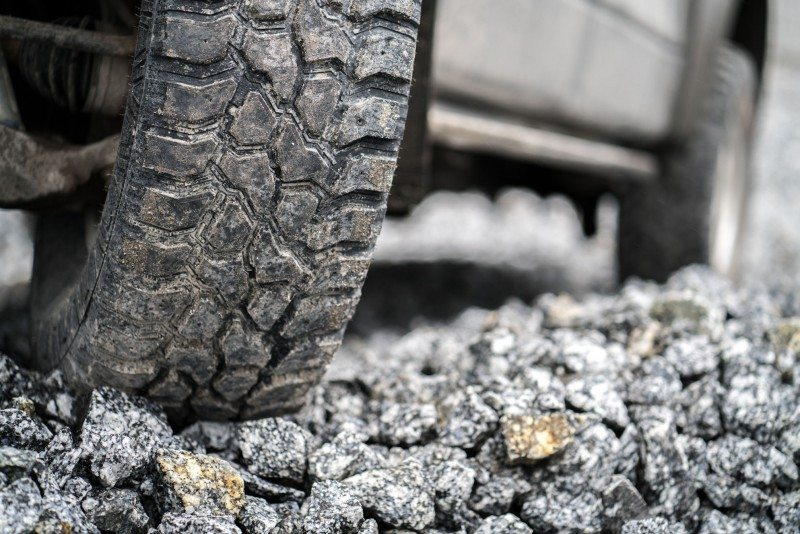 The Rockproof's tread pattern and a new, cut-resistant tread compound give it good durability in harsh environments
