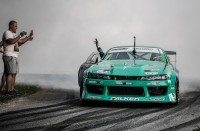 James Deane wins third European drift title in a row