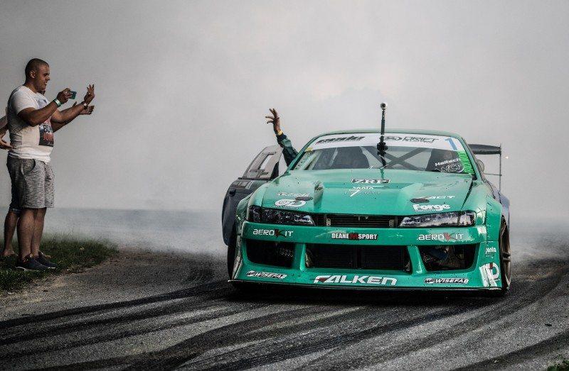 James Deane wins third European drift title in a row
