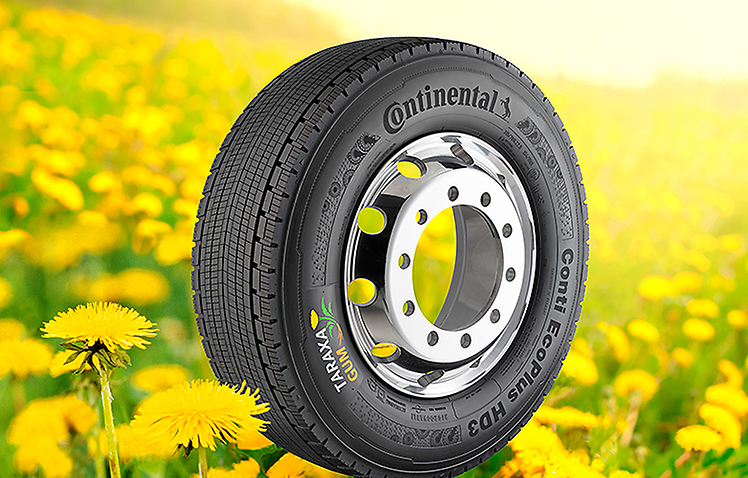 Continental is presenting Conti EcoPlus HD3 tyres containing Taraxagum at the IAA