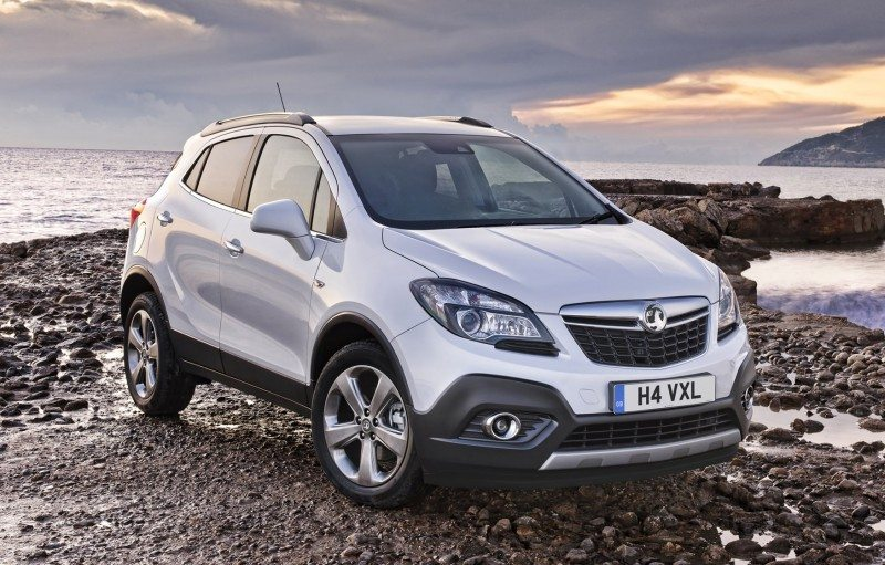 The Vauxhall Mokka leads the four cars taking the bottom four places in the latest (August 2016) SMMT top ten of the UK's most popular new cars