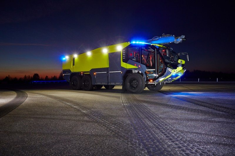 Rosenbauer's Panther airport fire truck runs on Starco speciality wheels