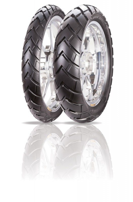 The new Avon TrekRider is designed to provide on and off-road performance as a new 'adventure tyre'