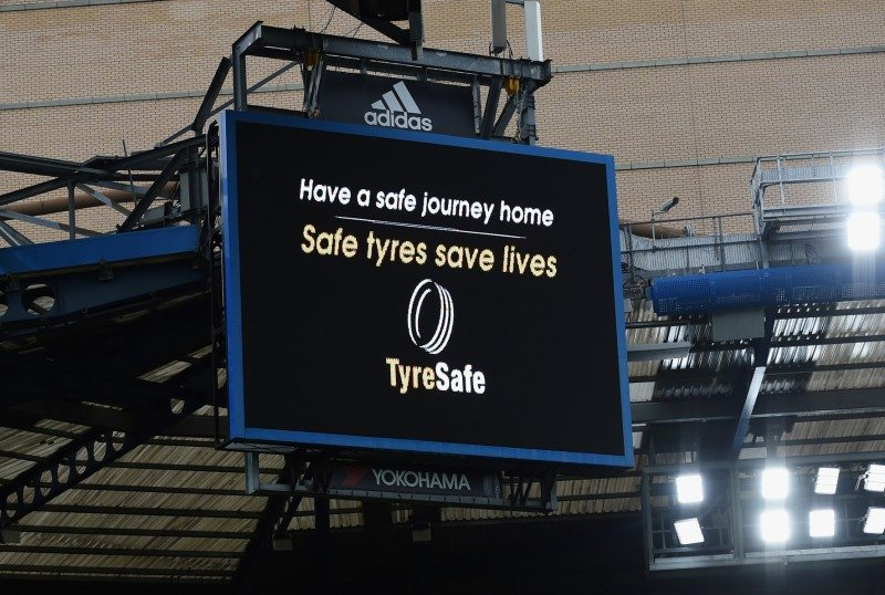 Premier League fans at Chelsea v Leicester City to be shown TyreSafe message