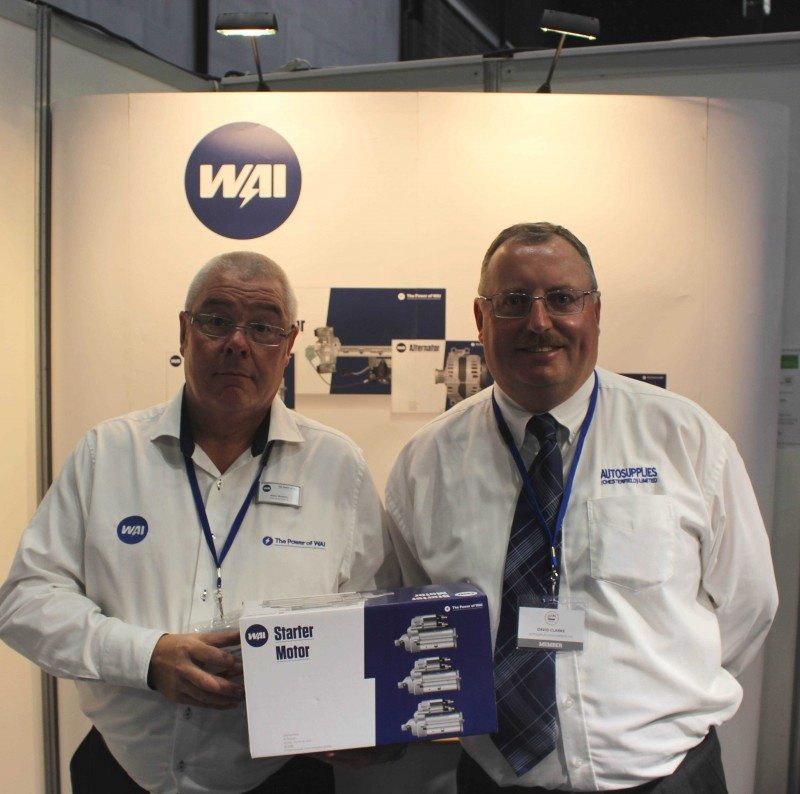 David Clarke, Autosupplies managing director and Gary Maskrey, WAI director of sales, UK & Ireland