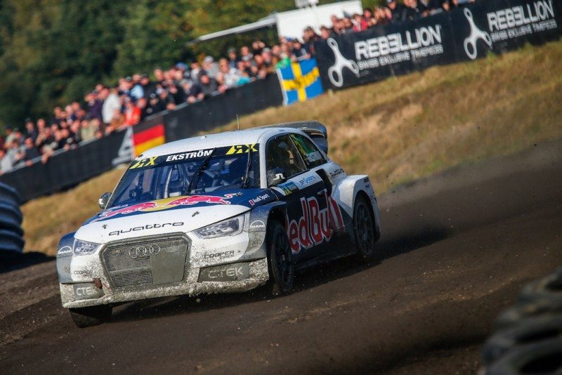 Mattias Ekstrom finished the German RX 30 points ahead of his nearest rival