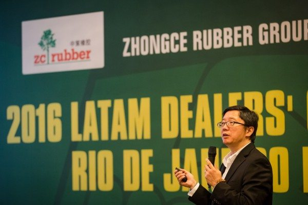 Richard Li, marketing manager of ZC Rubber