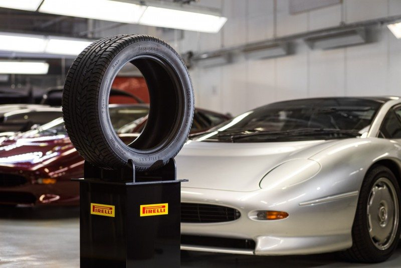The new P Zero has been developed specially for the Jaguar XJ220