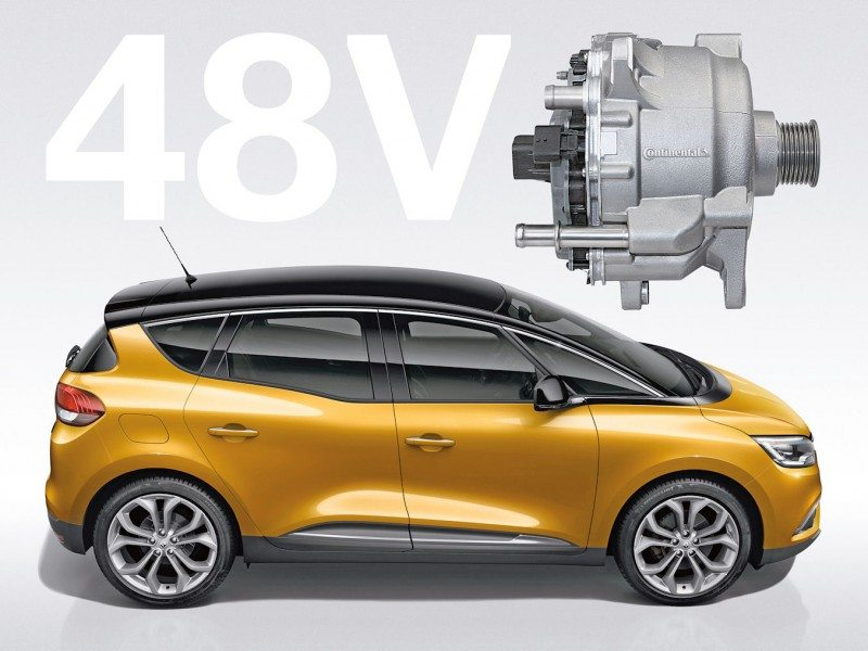 Powered by Continental – low-voltage hybrid system introduced