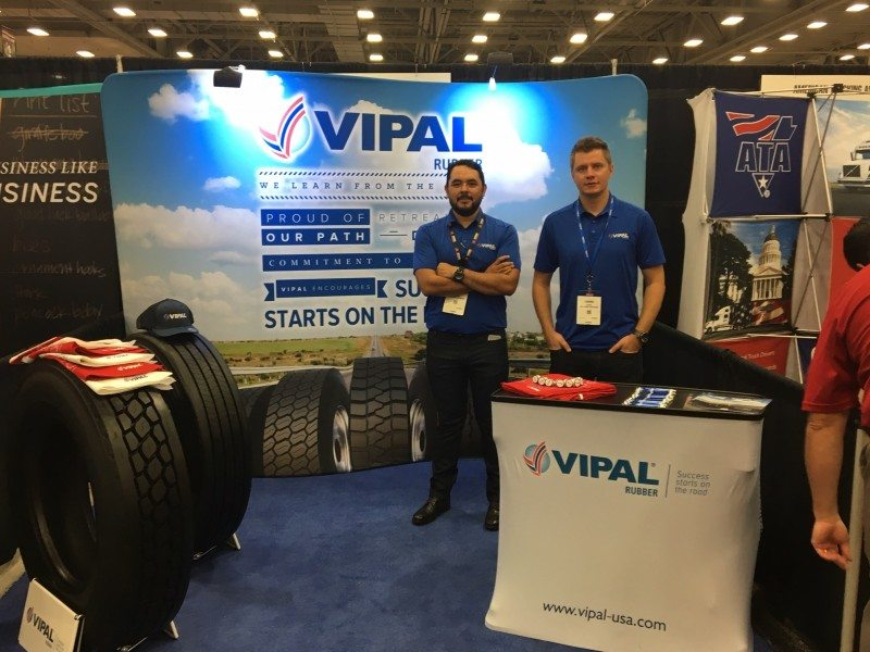 Vipal Rubber exhibits at US truck show