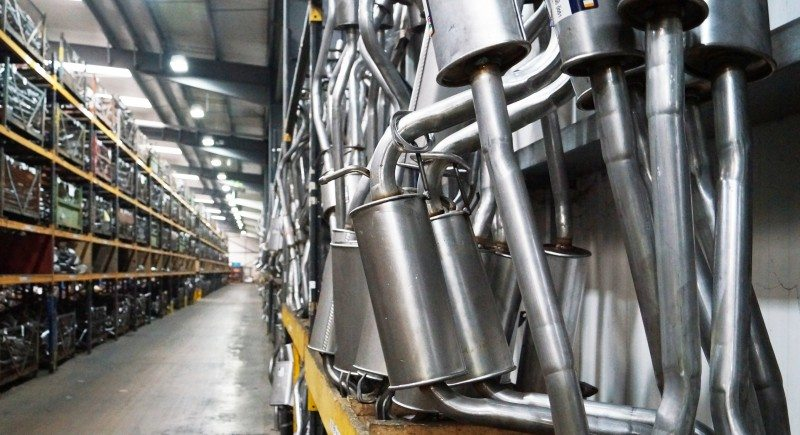 Klarius' virtual warehousing operation is particularly useful in distributing bulky items, such as the company's exhausts