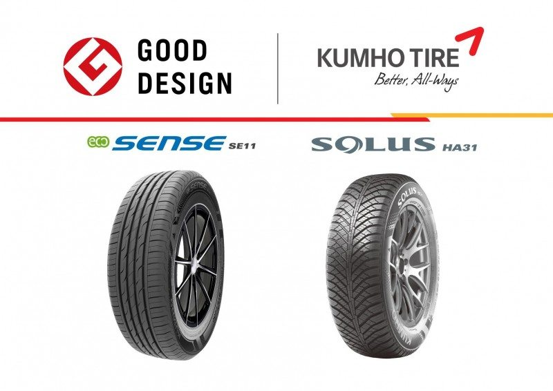 The Solus HA31 – Kumho's latest all-season tyre in the UK – is one of two products to gain a Good Design award