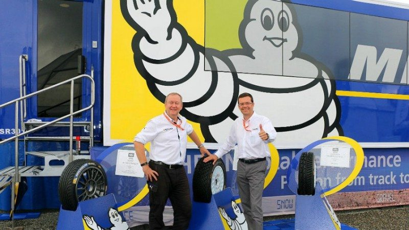 Pascal Couasnon (l) and Oliver Ciesla both look forward to Michelin's continued WRC involvement